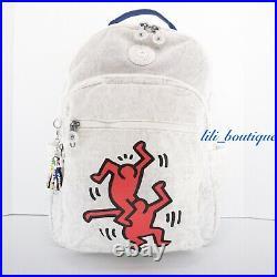 NWT Kipling KI6498 Keith Haring Seoul Backpack Laptop Travel Bag Public Art $154