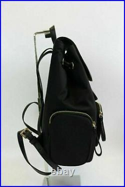 NWT MICHAEL KORS ABBEY Large Cargo Backpack Black Nylon laptop bookpack bag