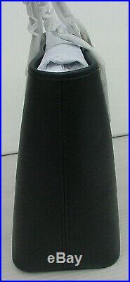 NWT! Michael Kors Jet Set Tote Medium Saffiano Black Bag Leather Top 3 Zip