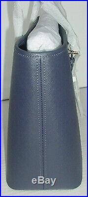 NWT! Michael Kors Jet Set Travel Tote Medium Saffiano Leather Zip-Top Admiral