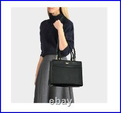 NWT Michael Kors Mott Large satchel tote laptop shoulder bag leather black