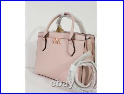 NWT Michael Kors Mott large satchel tote laptop shoulder bag Powder blush