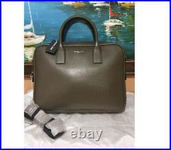 NWT Michael Kors Warren Briefcase Laptop Shoulder Bag Leather tote satchel