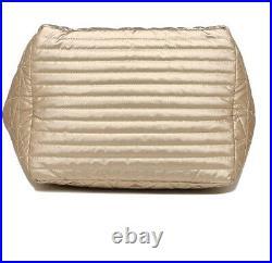 NWT Michael Kors Winnie Large tote Metallic Pale Gold laptop travel baby bag