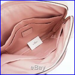NWT New Coach F39022 Women Laptop Bag Crossbody Briefcase Leather Petal Pink 398