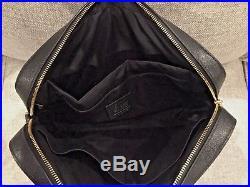 NWT Woman's Coach Black Crossgrain Leather Laptop Bag, #F39022, MFSRP $450, NEW