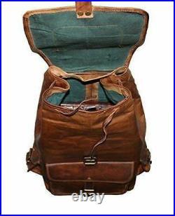New 18 Leather Genuine Backpack Bag Rucksack & Laptop Vintage Shoulder Travel