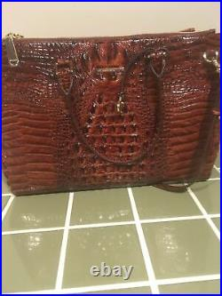 New! Brahmin Pecan Melbourne Satchel Work Travel Laptop Bag NWT $425+