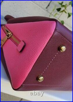 New Coach Lora Carryall satchel 654 colorblock shoulder bag laptop tote leather