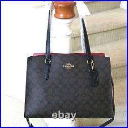 New Coach Signature Large Tatum Carryall Bag Laptop C4075 Brown Black