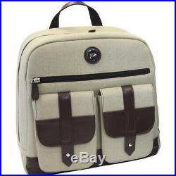 New Jill-e Designs Backpack Tan Woven Holds 13 Laptop Camera Bag Women Fashion