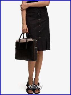 New KATE SPADE MARGAUX UNIVERSAL Leather LAPTOP Work Bag Black/Warm Taupe