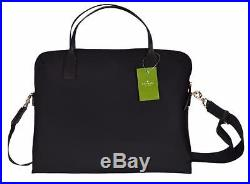 New Kate Spade Blake Avenue Black Nylon Daveney Laptop Case Bag