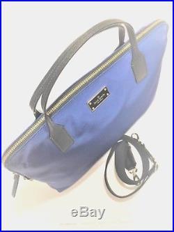 New Kate Spade Blake Avenue Daveney Blue Nylon Computer Laptop Bag