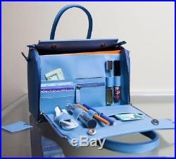 New Lamb Genuine Leather ladies bag black blue laptop sachel WOMEN BAG EDH
