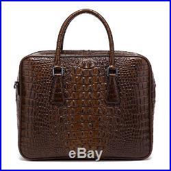 New Leather Briefcase Laptop Bag Attache Business Man Bag Men's Women's Handbag