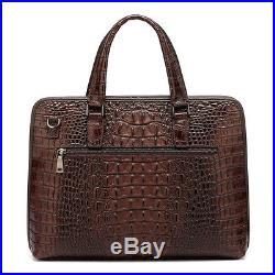 New Leather Briefcase Laptop Bag Attache Business Man Bag Men's Women's Satchel