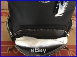 New Tumi $345 Calais Voyageur Backpack Laptop Bag Black & Earl Grey 79109