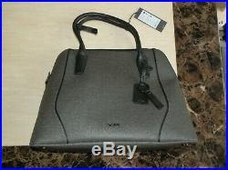 New Tumi womans grey stanton janet domed laptop shoulder hand bag satchel £625