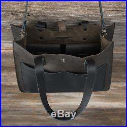 New women's ladies real leather bag black Laptop Tote Shoulder Bag Satchel