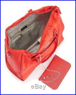 Nicole Miller Women's NWT $150 Red Business/Laptop Tote Bag Removable Pouch