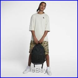 Nike NikeLab Backpack Black Mesh Leather Mens Womens School Book Bag Laptop