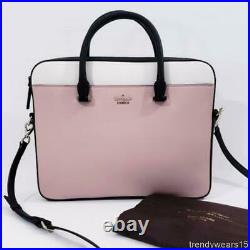 Nwt $298 Kate Spade Saffiano Leather 13 Laptop Bag Case Toasted Wheat Multi