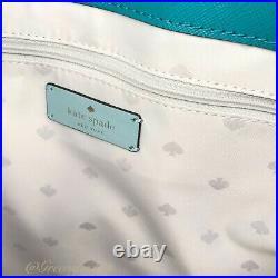 Nwt Kate Spade Staci Large Laptop Tote Shoulder Bag Mint Multi Leather Purse
