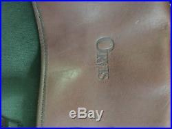 ORVIS Battenkill Leather & Green Canvas Laptop Messenger Bag MENS Or WOMENS