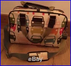 Orla Kiely Multicolour Cars Coated Laptop Travel Case Bag