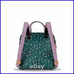 Orla Kiely Small Travel Backpack Tote Laptop Tablet Bag Emerald New