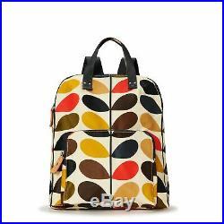 Orla Kiely Stem Multi Travel Backpack Tote Laptop Bag New Multi Colour