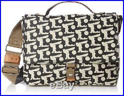 Orla Kiely Womens Satchel Laptop Bag Black