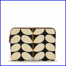 Orla Kiely Womens Solid Stem Black 15 Laptop Tablet Case Bag Zip Around
