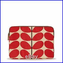 Orla Kiely Womens Solid Stem Red 15 Laptop Tablet Case Bag Zip Around
