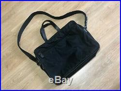 PRADA Men's Women's V407 Black Nylon & Leather Business Bag Laptop Bag GOOD