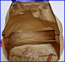 PRADABeige Khaki Tan Saffiano Leather Nylon Tessuto Bagcomputer laptopPURSE