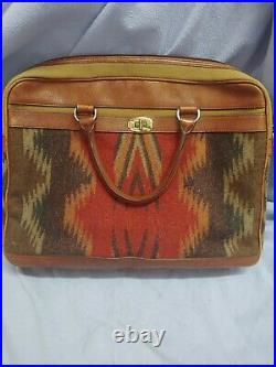Pendleton Laptop Bag/ Attache Leather + Wool Exterior-Preowned