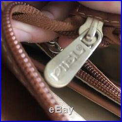 Piel Leather Ladies Buckle Laptop Tote, Saddle, NTW (521.99 Msrp) Style # 2739 1