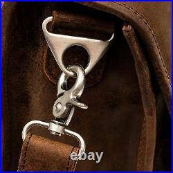 Porterbello Leather Satchel Briefcase Laptop Man Bag