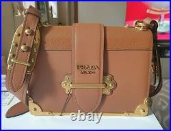 Prada Cahier Tan Bag Bnwt