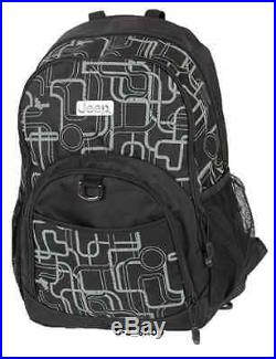 Quality Jeep Mens Womens Backpack Laptop Notebook Rucksack School College Bag A3