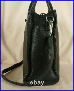 Radley Queens Park Large Laptop Bag Work Bag Black Leather + Shoulder Strap Used
