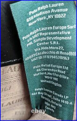Ralph Lauren Black Patent Leather Satchel Laptop Doctor Bag Crossbody Tote