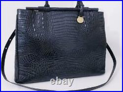 Rare $440 Brahmin Bernadette Blue Teal Business Bag Briefcase Laptop Melbourne
