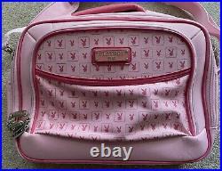 Rare Vintage Designer Pink Playboy Monogram Messenger Satchel Laptop Bag