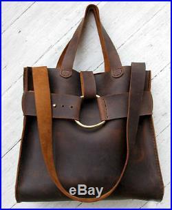 Real Leather Men's womens Briefcase Laptop Messenger Shoulder Satchel backpack