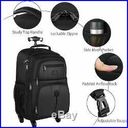 Rolling Backpack for Travel 4 Wheels Laptop Backpack for Women Men Water Resi
