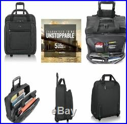 Rolling Computer Laptop Bag For Women Men With Wheels Handle Case 17.3 Inch
