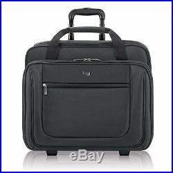 Rolling Laptop Bag Bags For Women Men Professionals Solo Bryant 17.3 Inch Black